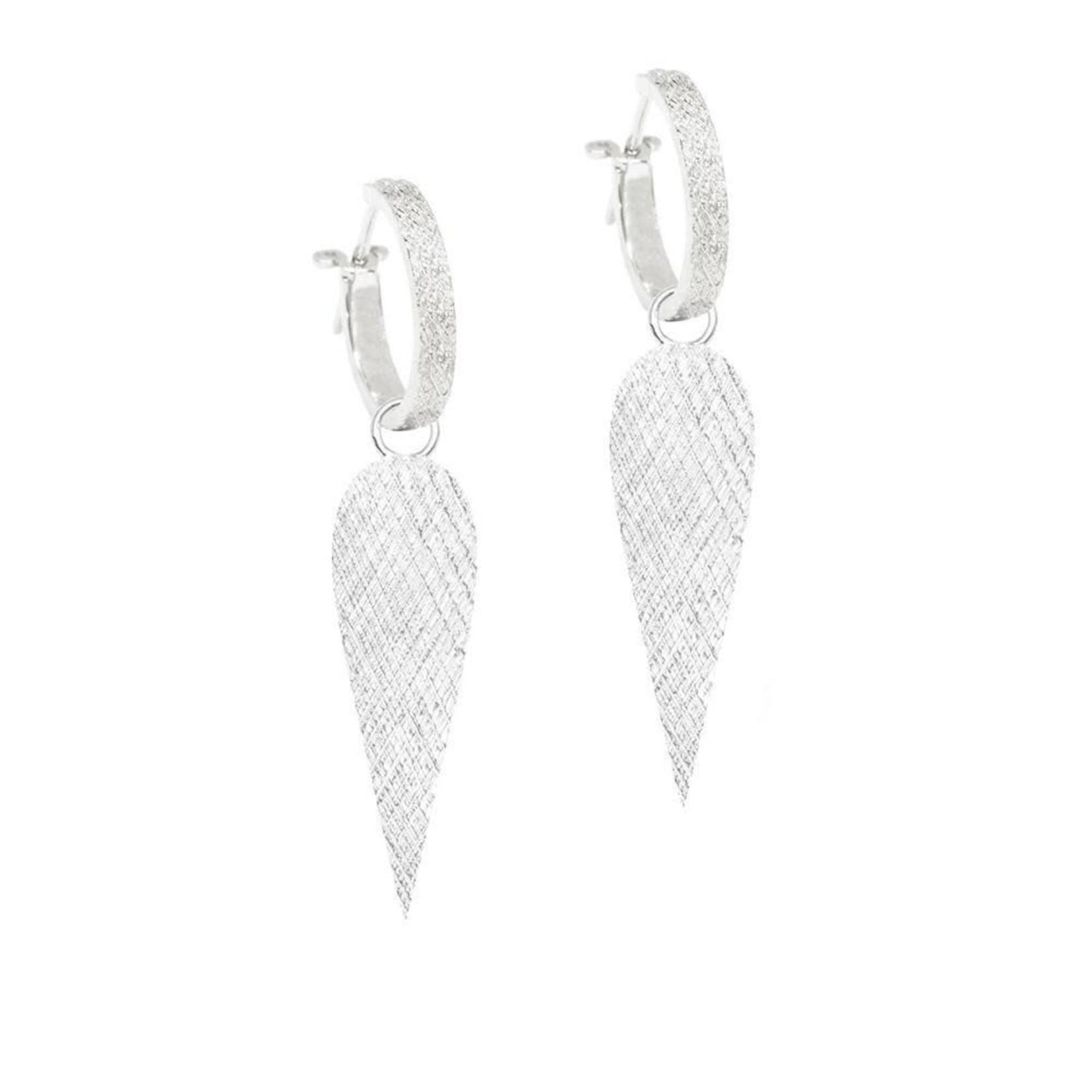 Sterling Silver Angel Wings 12mm Earring Jackets Sterling