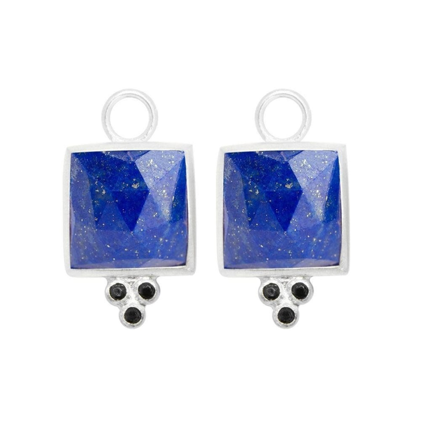 Sterling Silver Ariana square lapis jackets