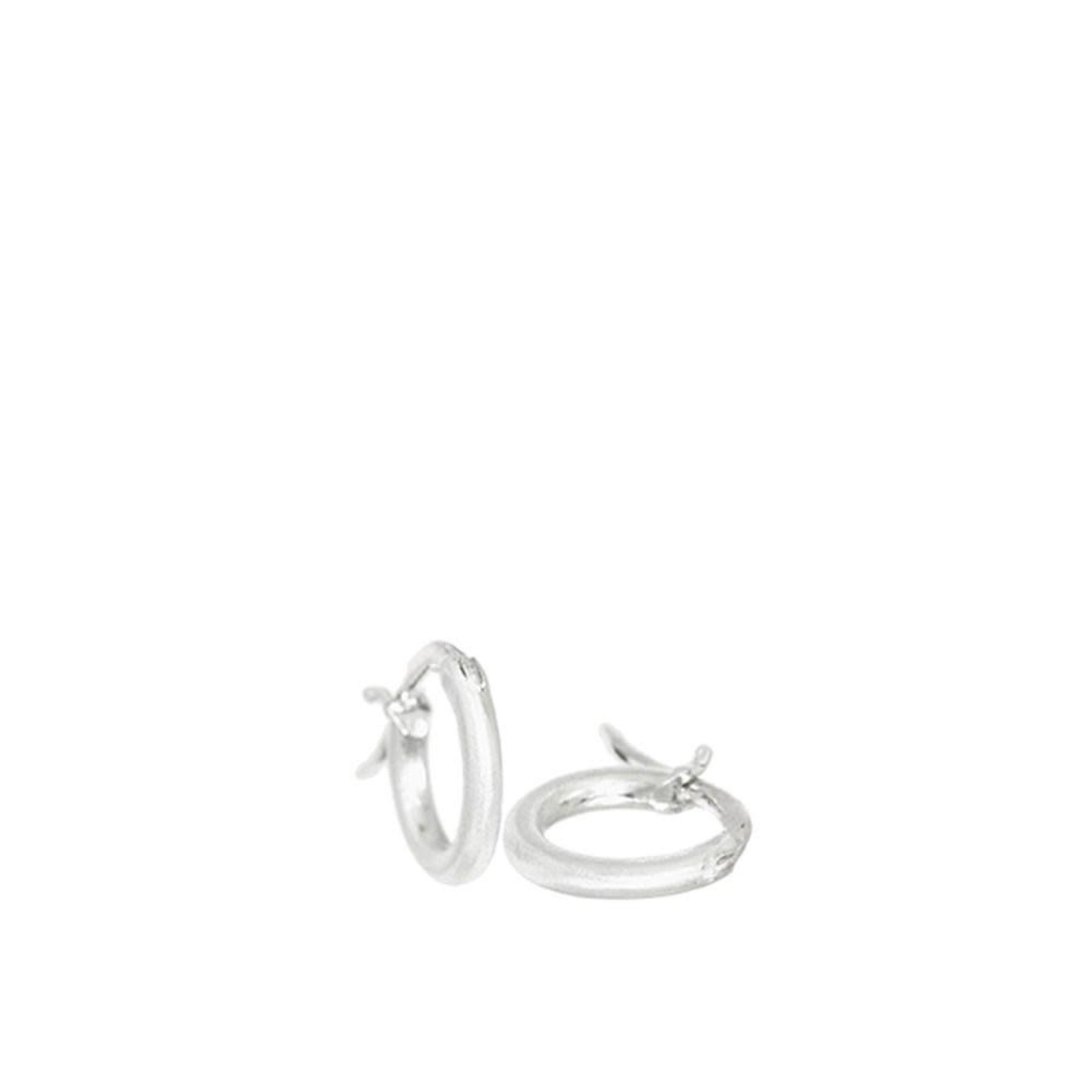 Sterling Silver Mekong - Small 25mm Silver Hoops