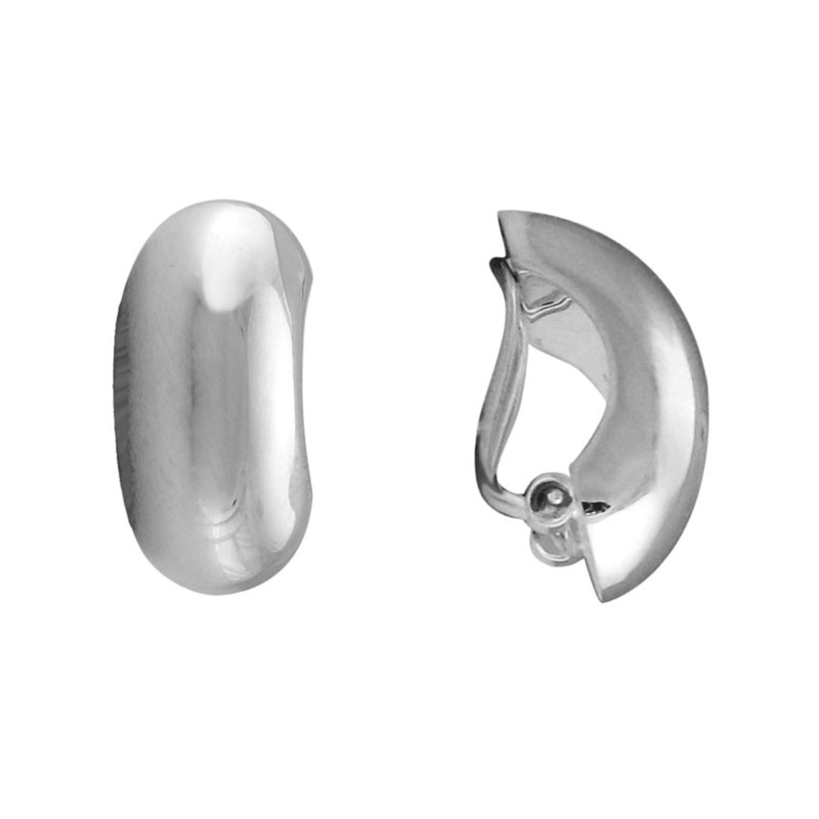 Sterling Silver Clip-On Half Hoop Earrings