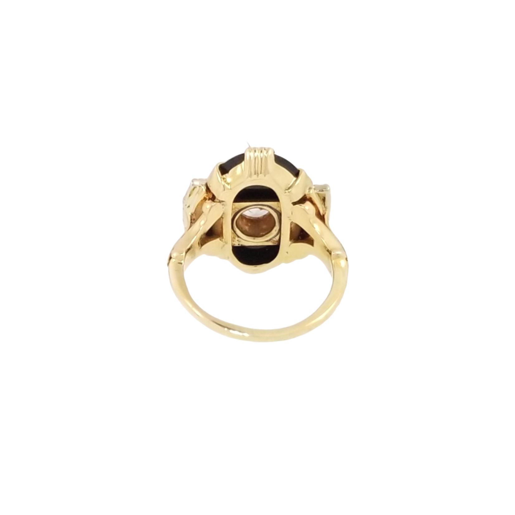 Estate Onyx CZ Ring