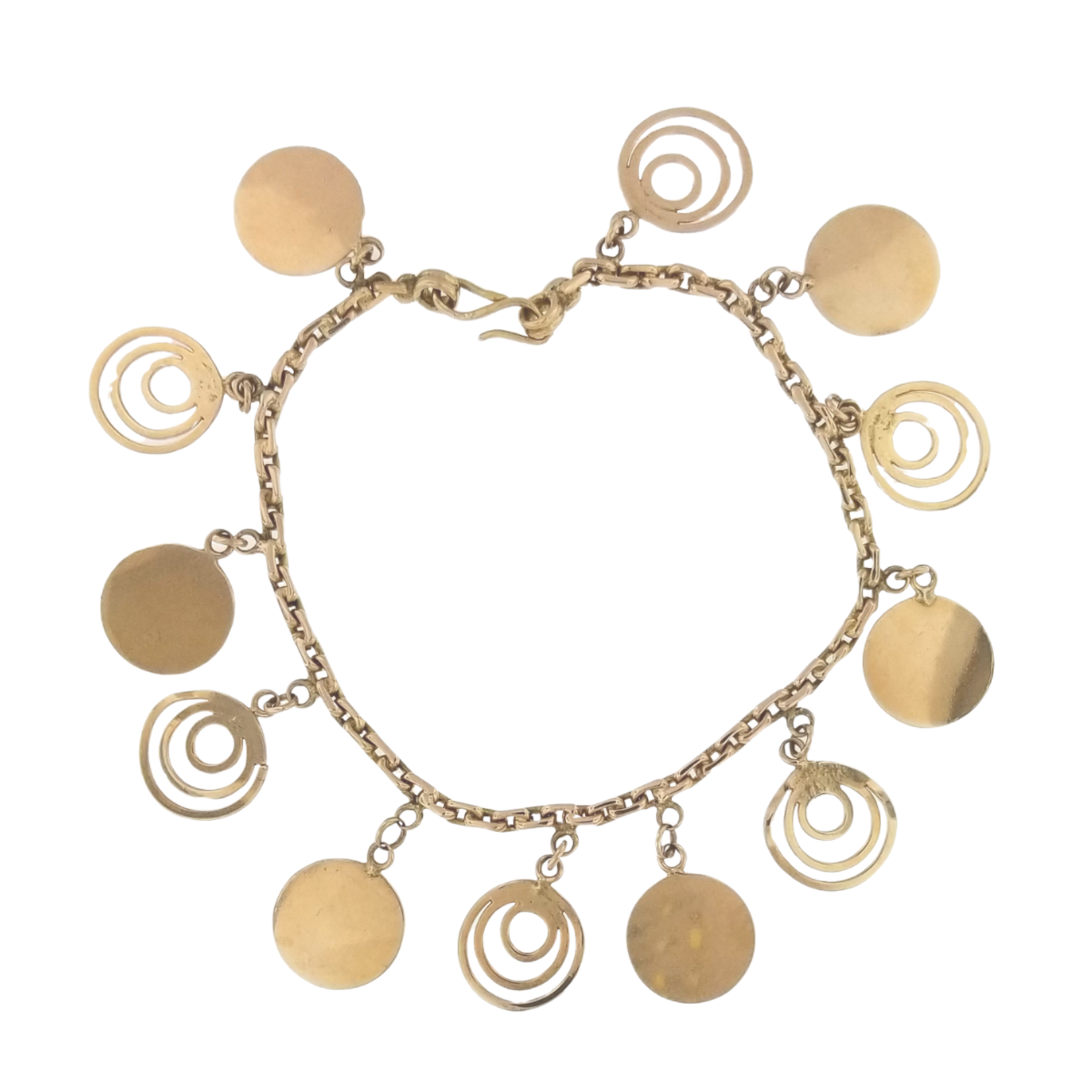 Estate Gold Charm Bracelet