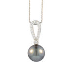 Tahitian Pearl and Diamond Necklace