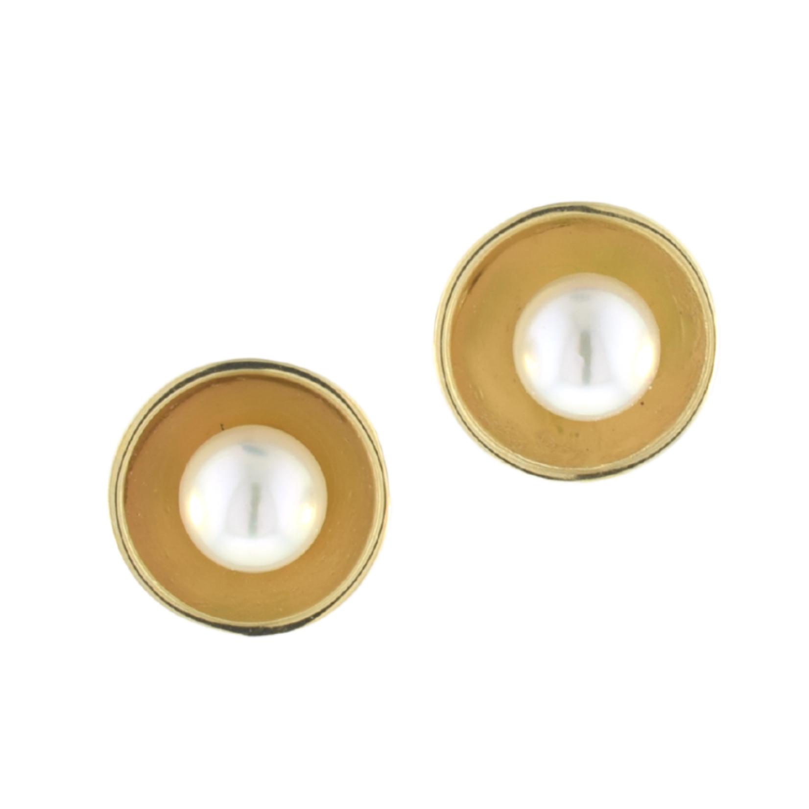 Mini Pearl Cup Earring