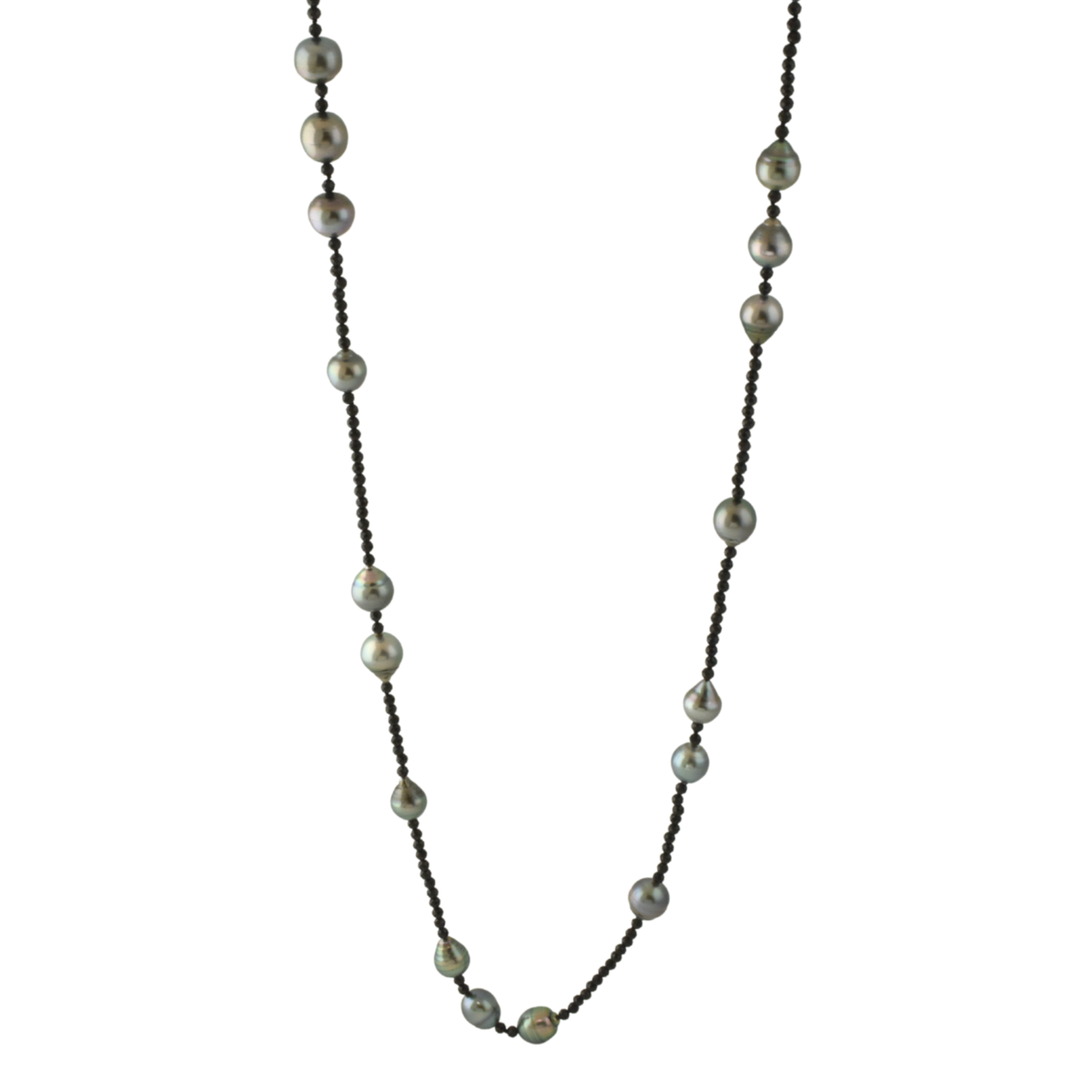 Tahitian Pearl & Spinel Necklace
