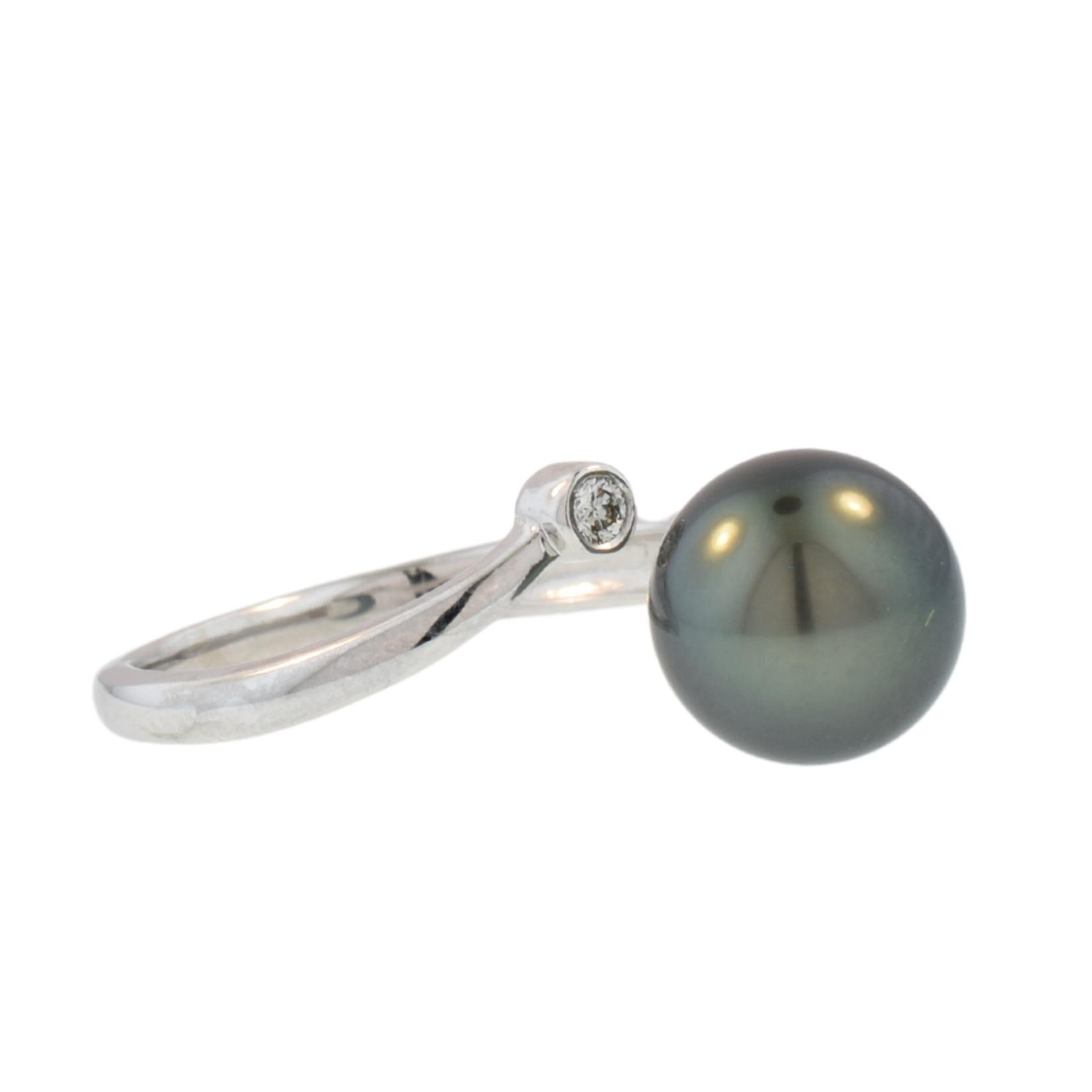 Tahitian & Diamond Pearl Ring