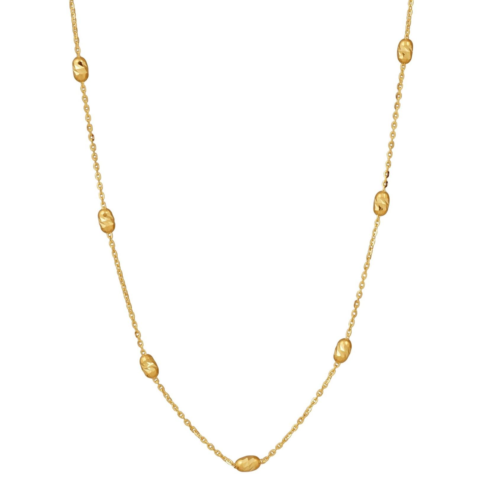 Gold Ovalina Station Necklace