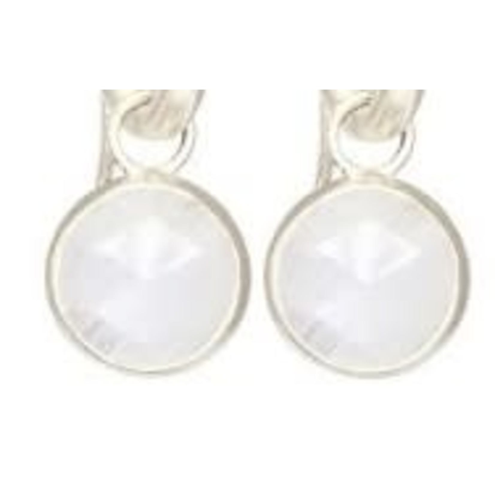 Sterling Silver Round Petal 10mm Jackets Moonstone