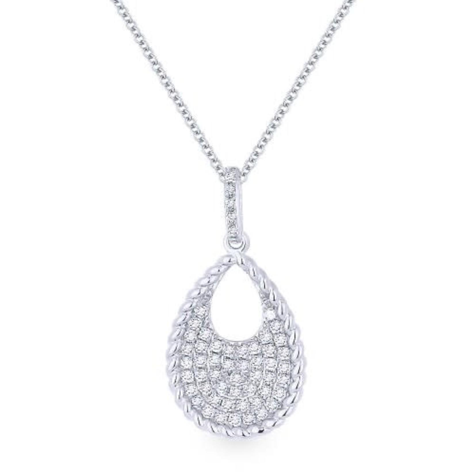 Pave Teardrop Diamond Pendant