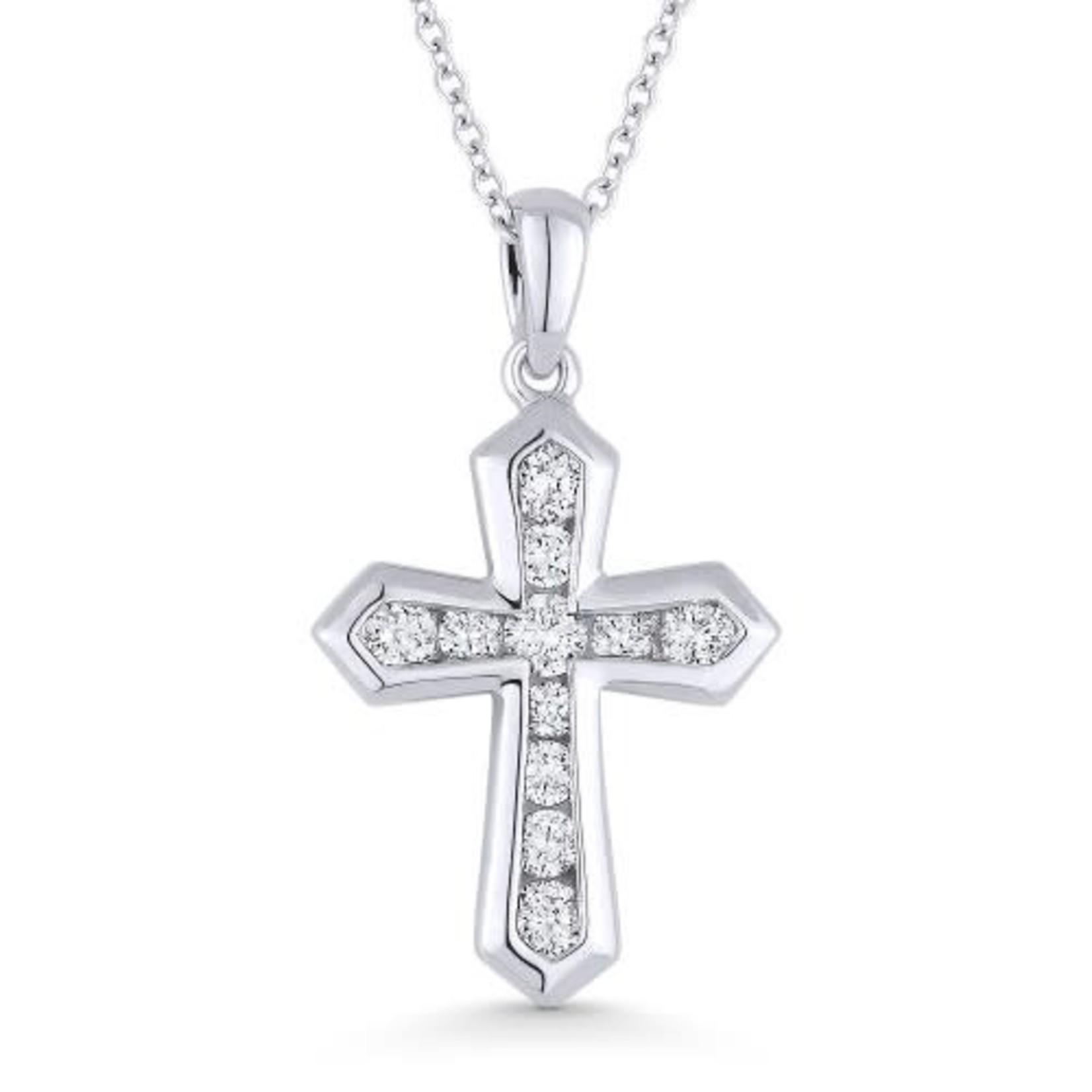 Channel-Set Diamond Cross