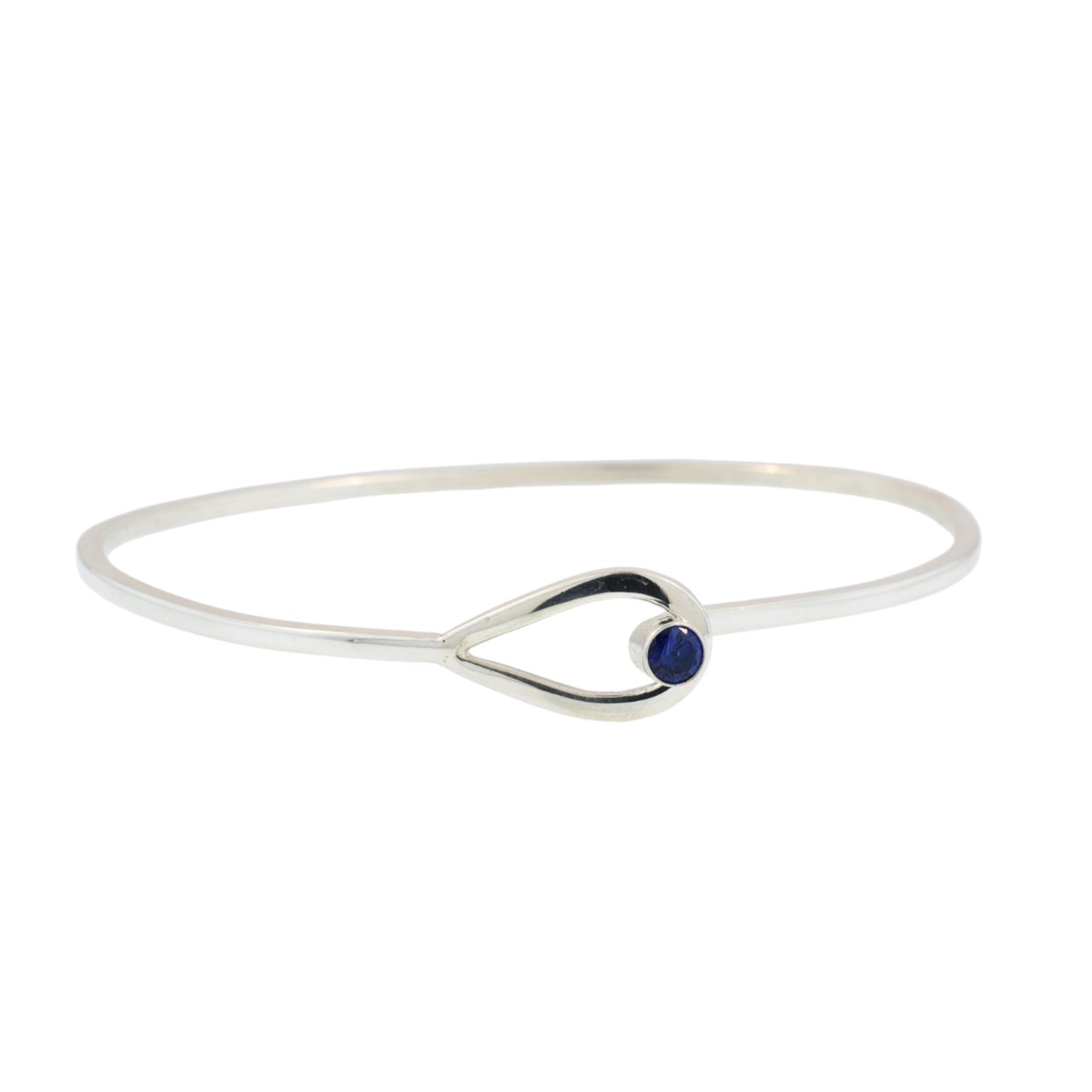 Sterling Silver Birthstone Bangle Bracelet