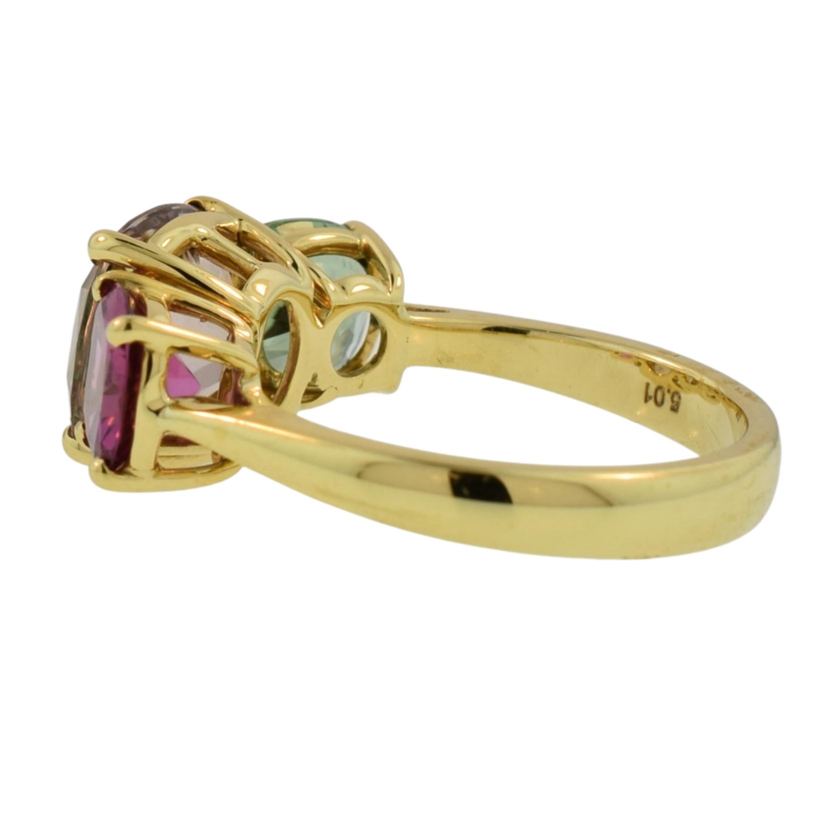Multi Color Tourmaline Statement Ring
