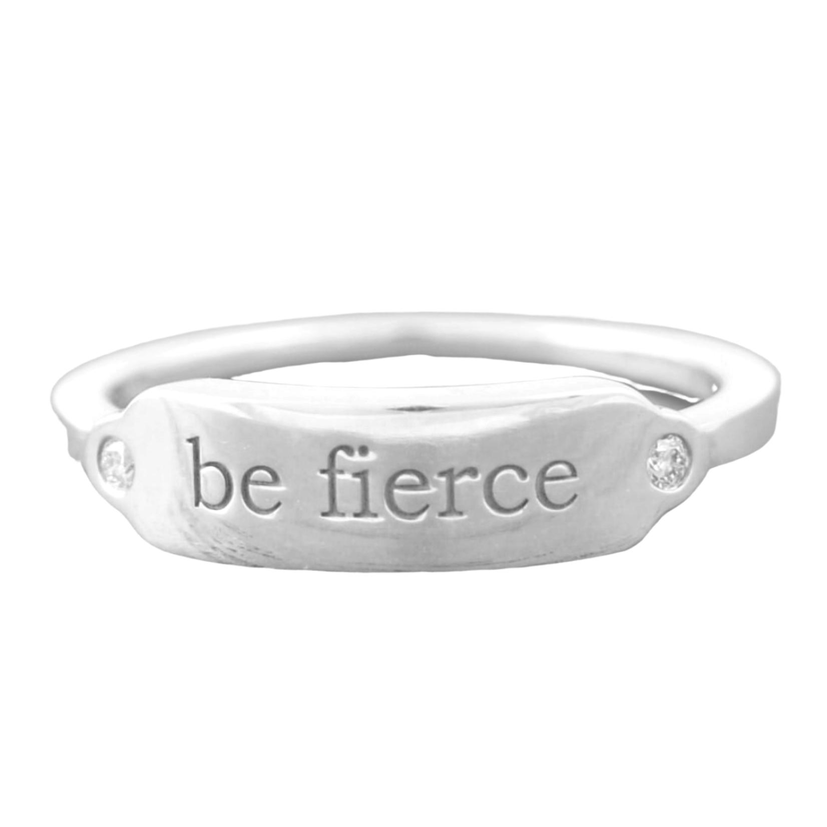 Be Fierce Sterling Signet Ring