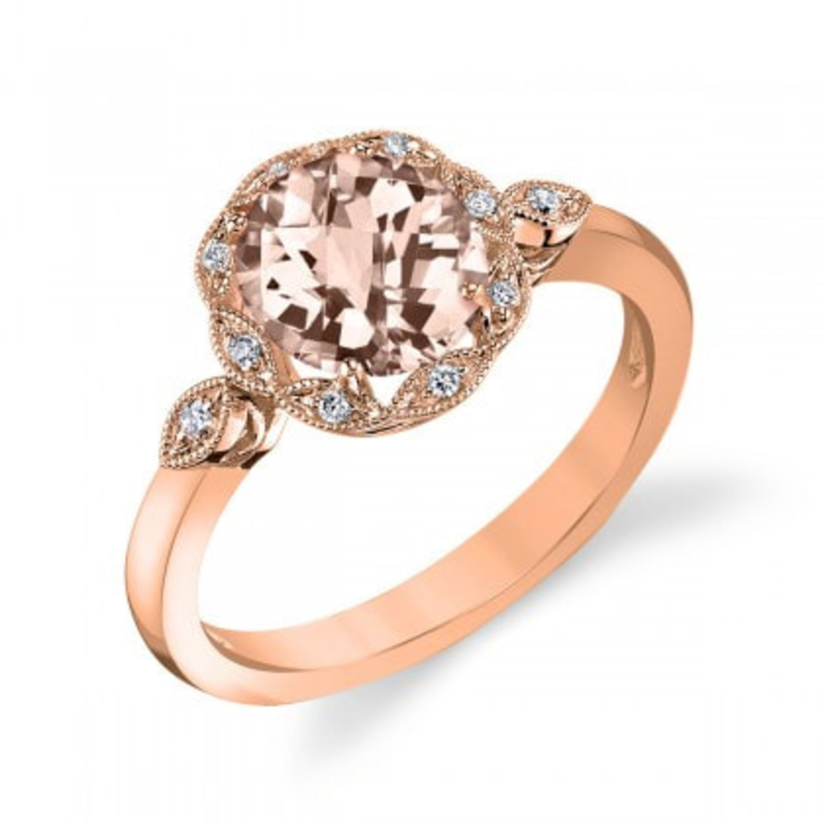 Rose Gold Oval Morganite Ring