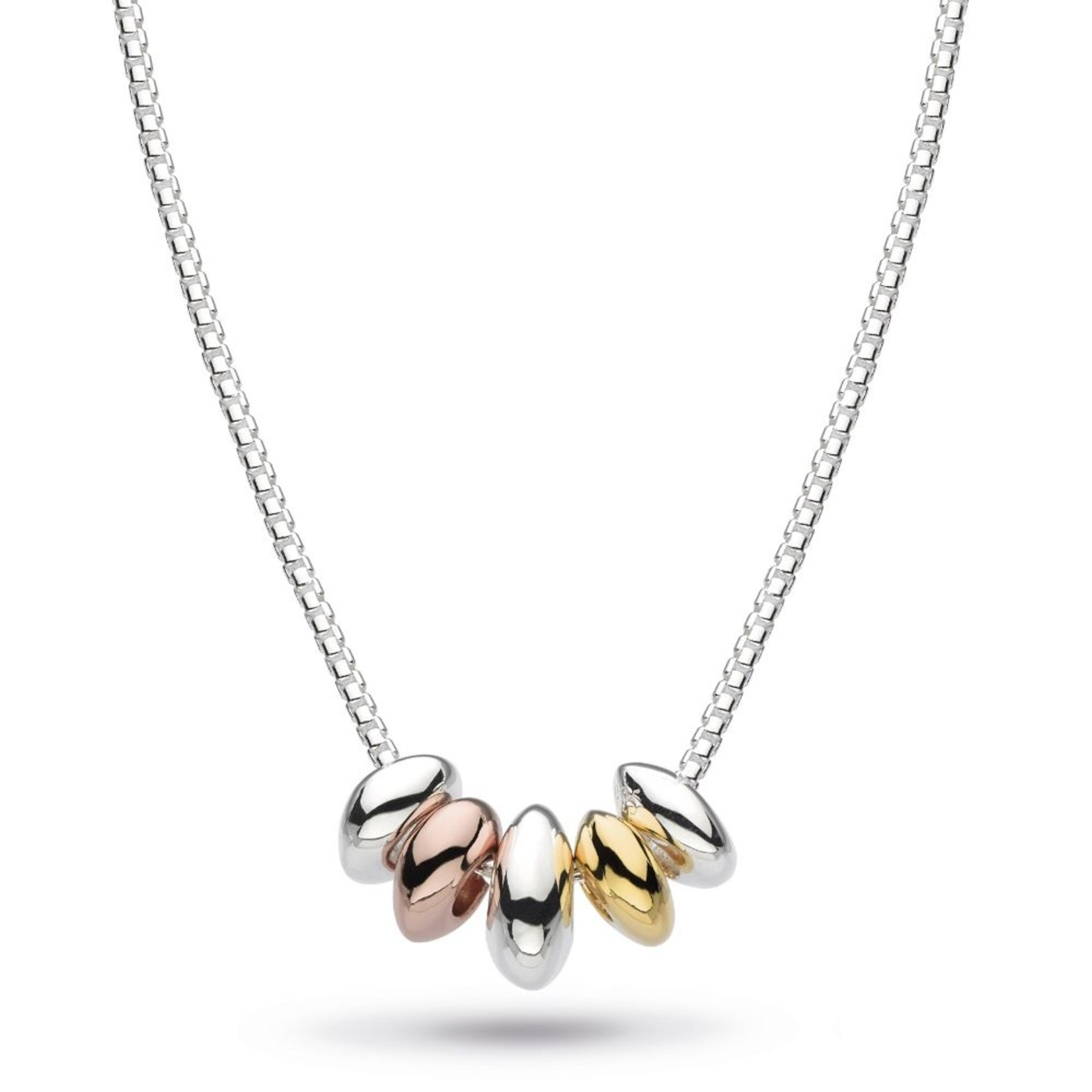 Coast Tumble Quinate Gold, Rose Gold Plate Necklace
