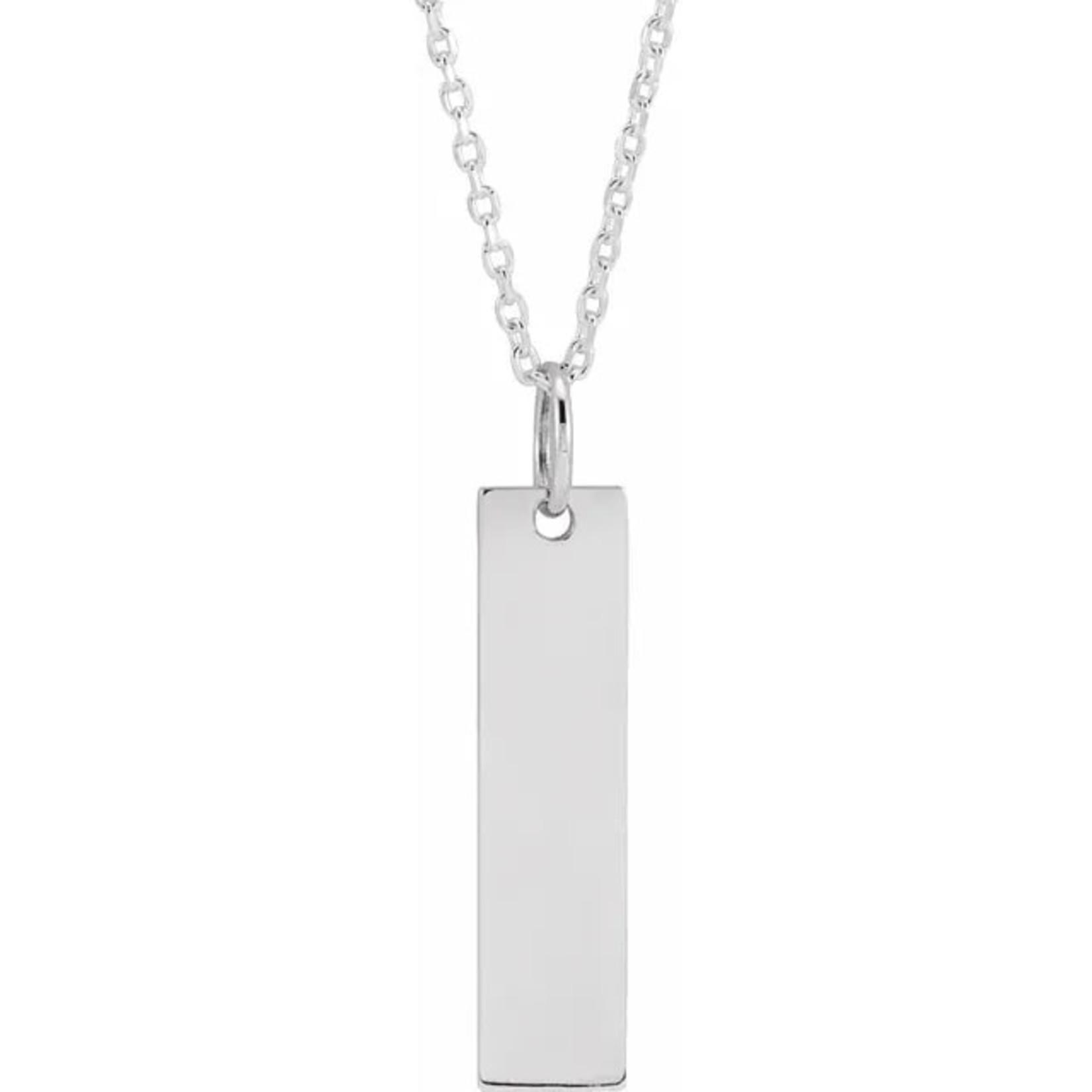 Sterling Silver Vertical Bar Necklace