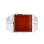 Large Sterling Silver Carnelian Ring