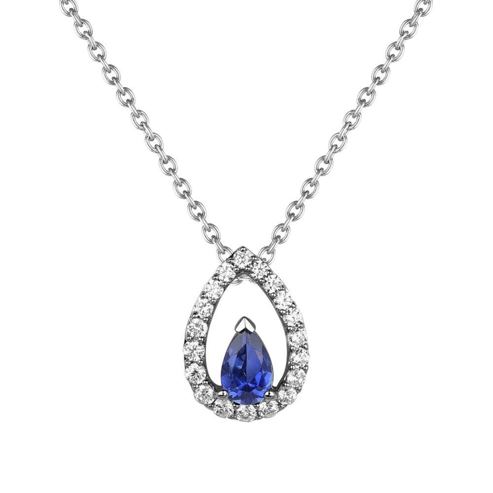 Blue Sapphire Teardrop Pendant