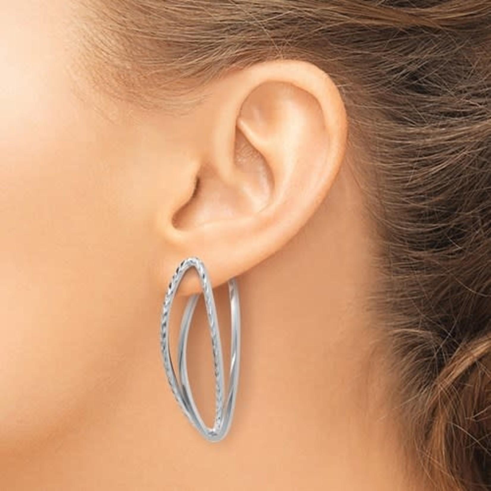 Gold Versatile Oval Post Earrings