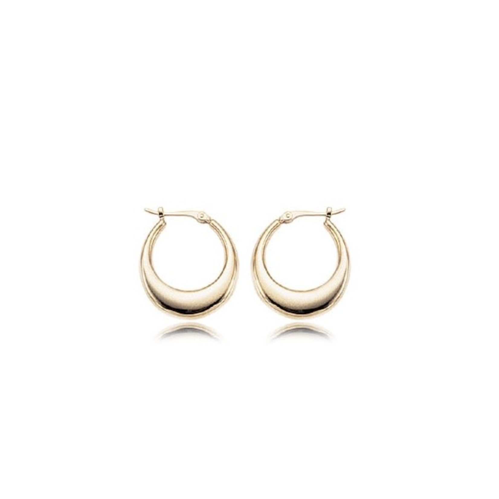 14KY Small Tapered Hoop Earring