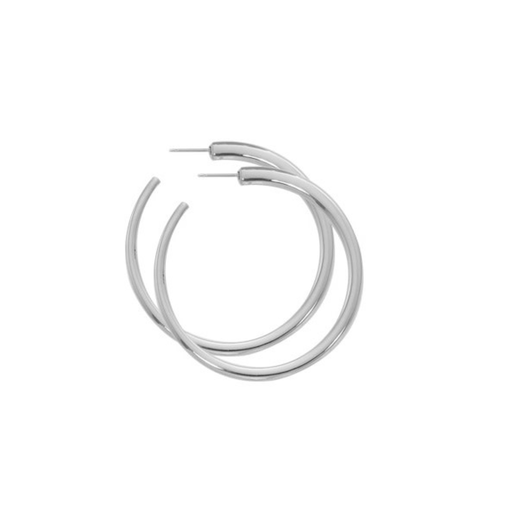 Silver XL Hoop Earring with Post