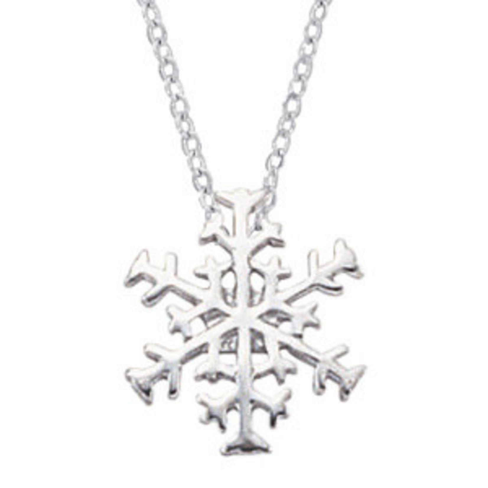 Silver Snowflake Pendant 16-18in Chain