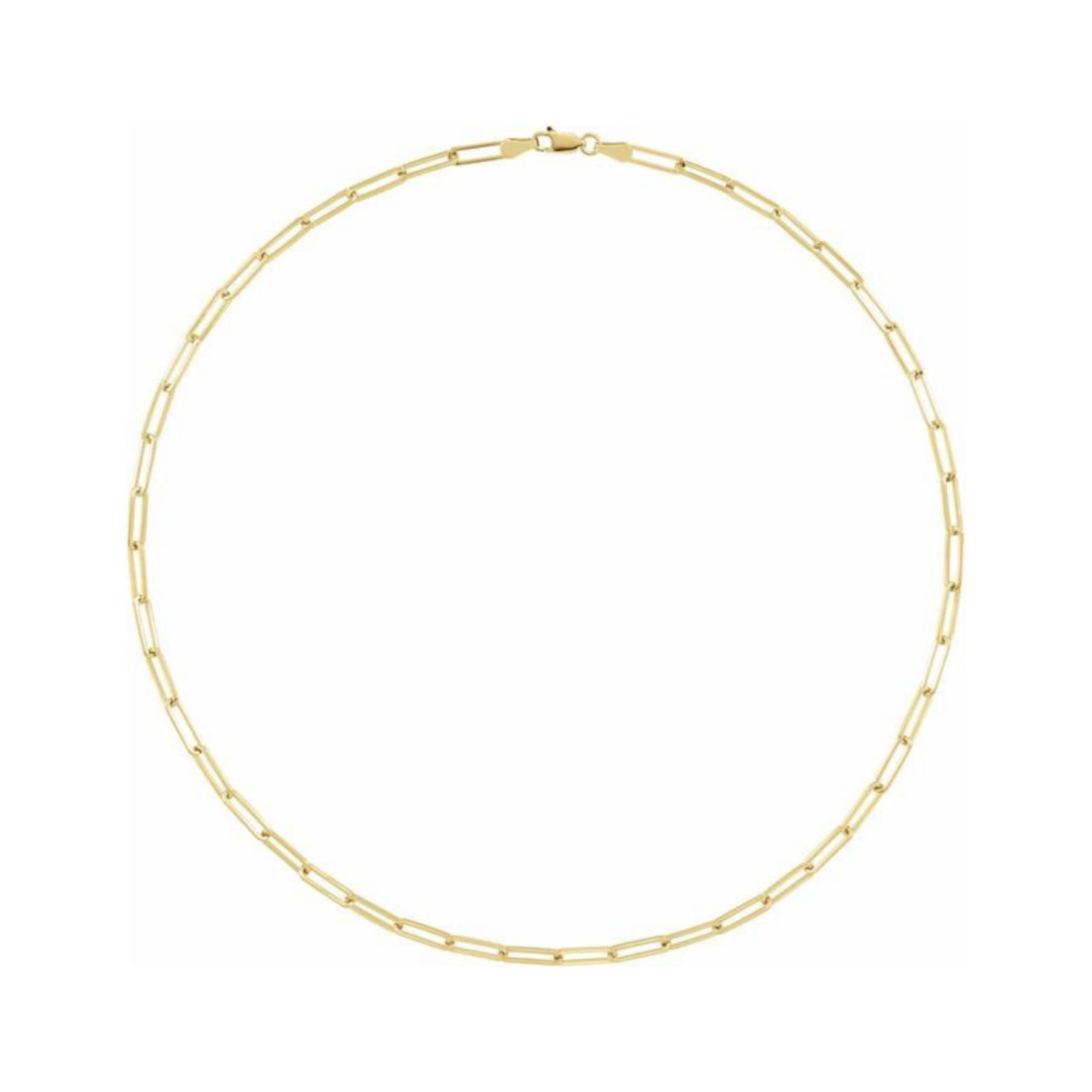 Gold-Plated Paperclip 18in Necklace