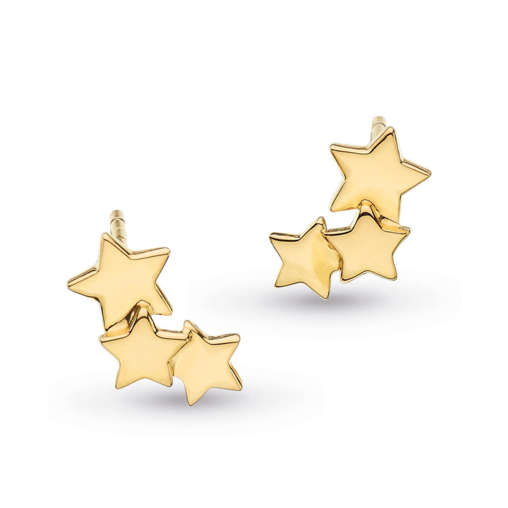 Stargazer Galaxy Studs Gold Plated