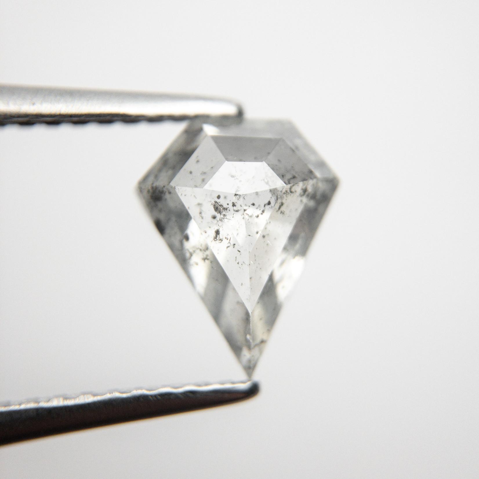 1.32 carat Salt + Pepper Shield Cut Diamond