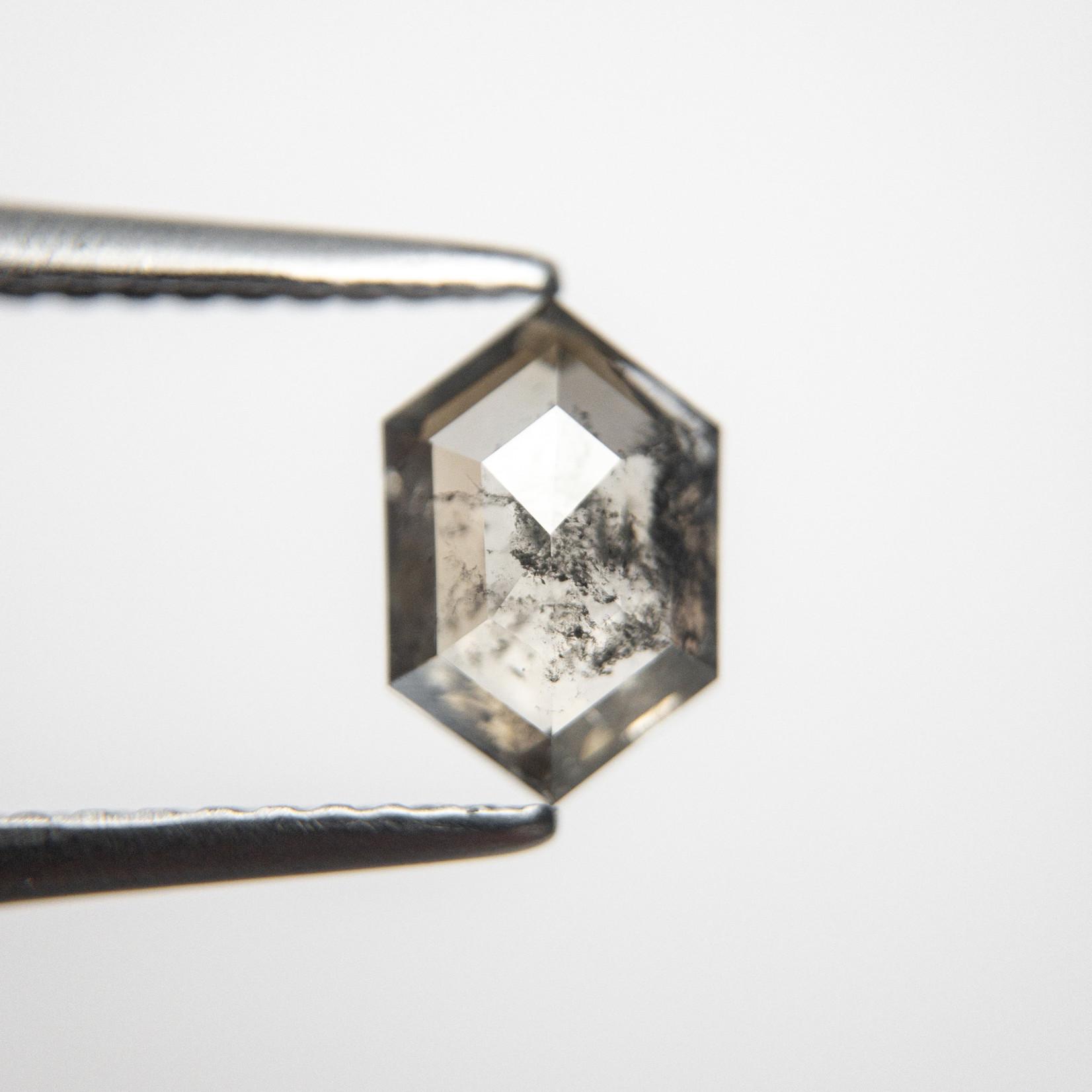 1.22 carat Salt + Pepper Hexagon Diamond