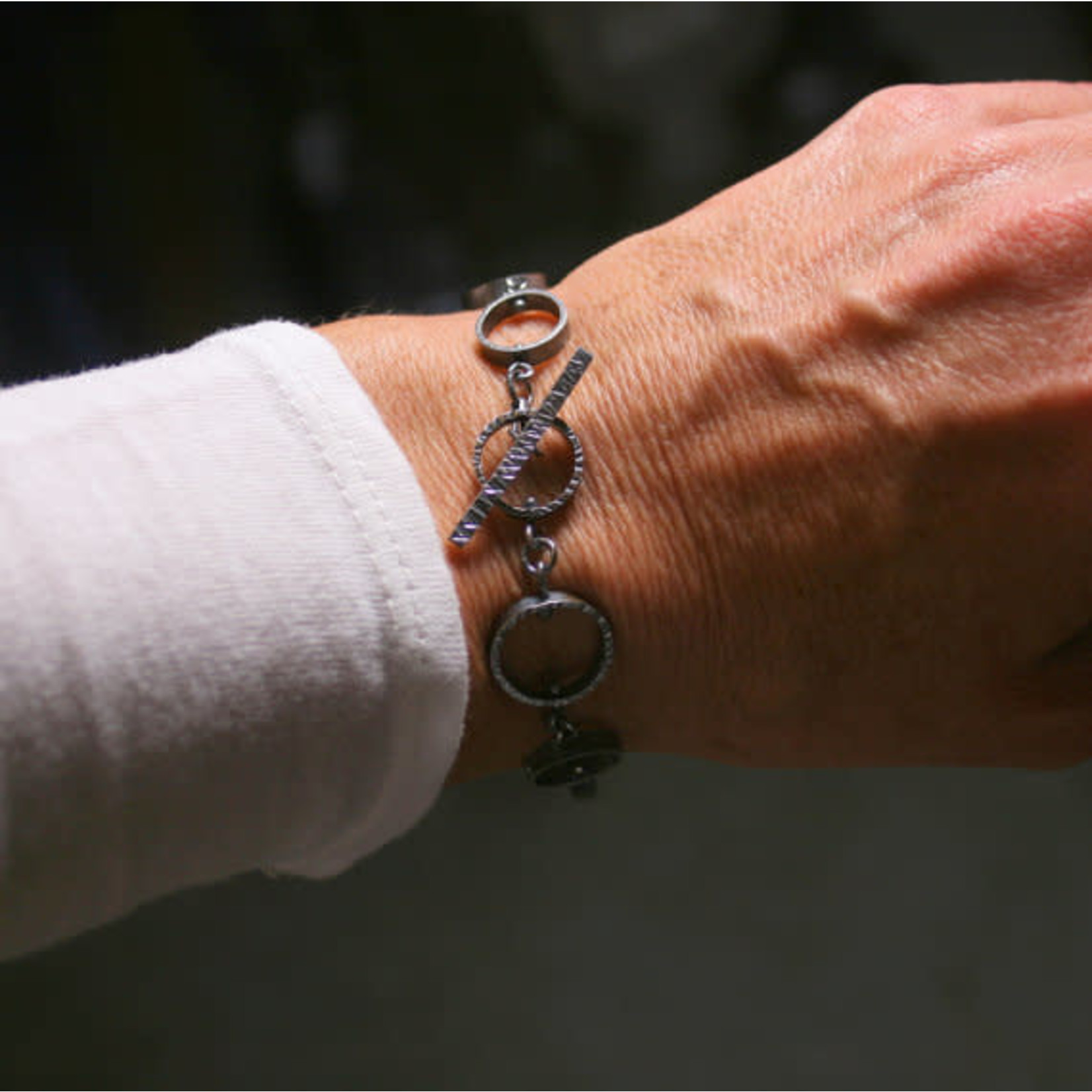 Hartley Studio Orbit - Sterling Circle Bracelet