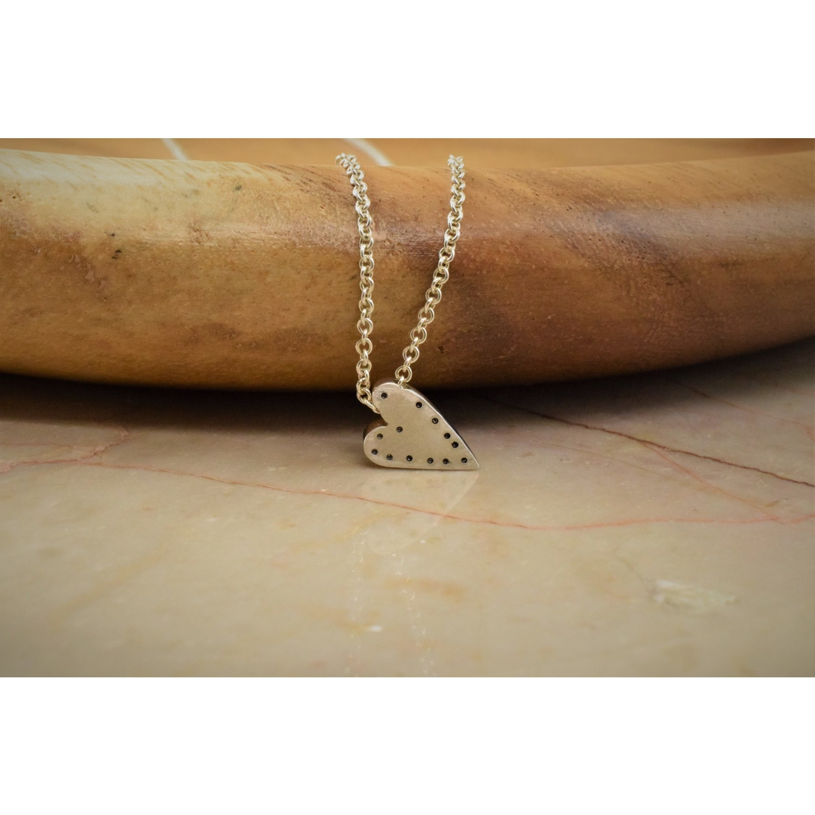 Hartley Studio Sterling Dot Handmade Heart Necklace