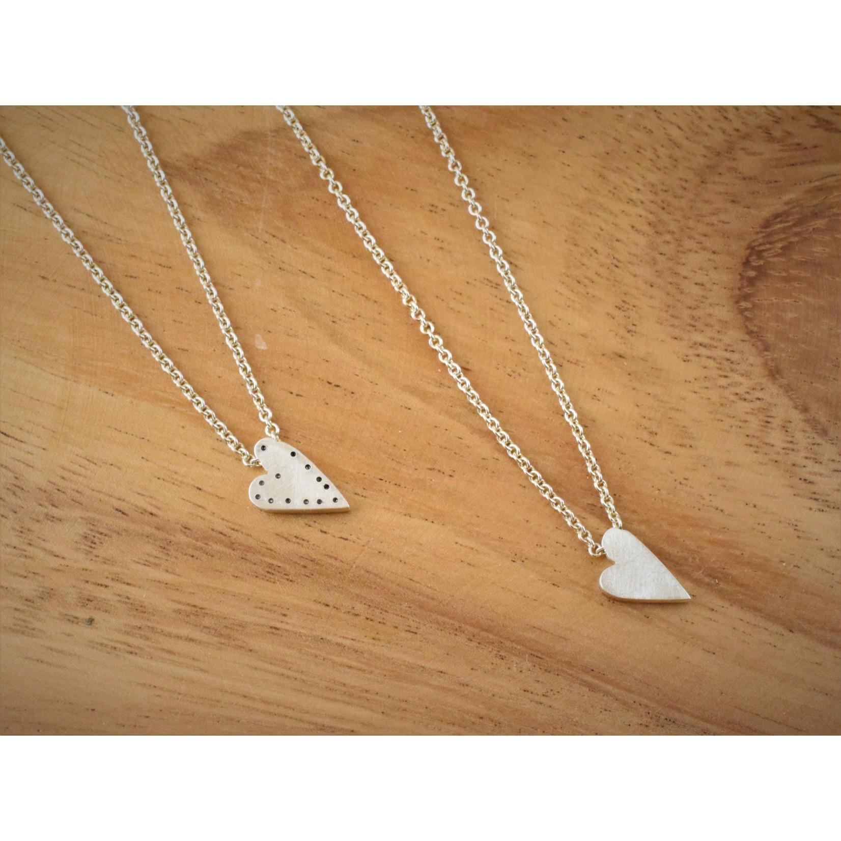 Hartley Studio Sterling Textured Handmade Heart Necklace