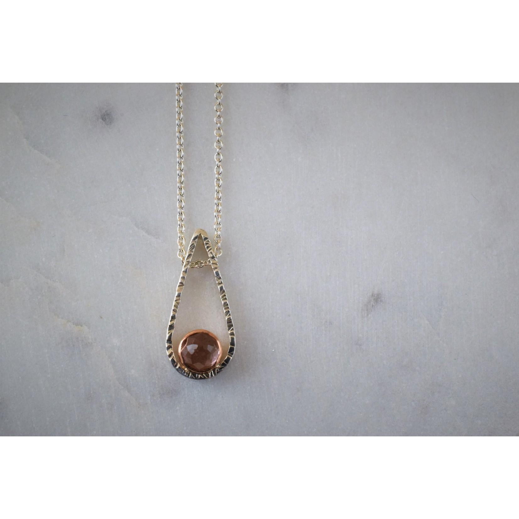 Hartley Studio Sterling & Rose Teardrop Necklace
