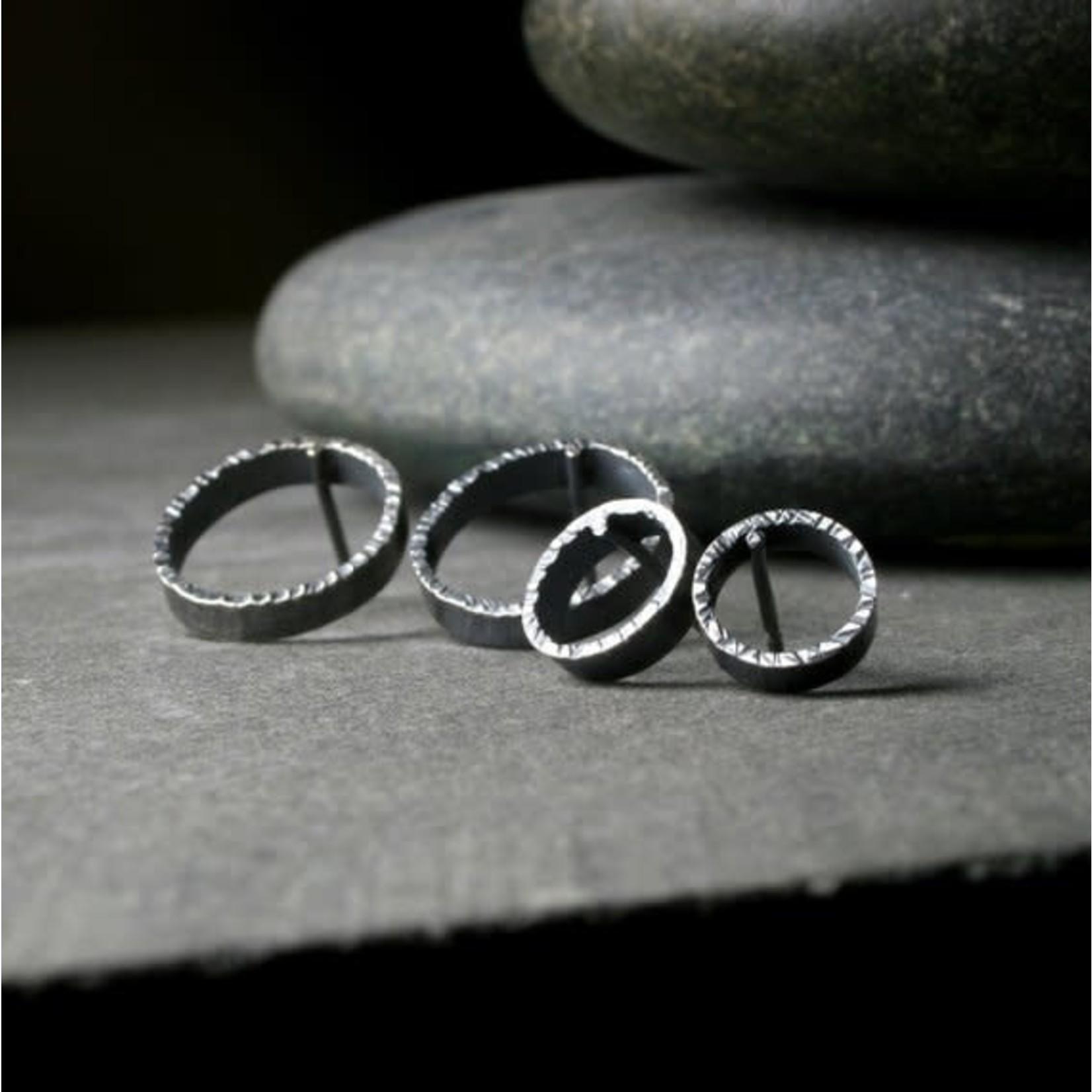 Hartley Studio Hammered Edge Circle Earrings
