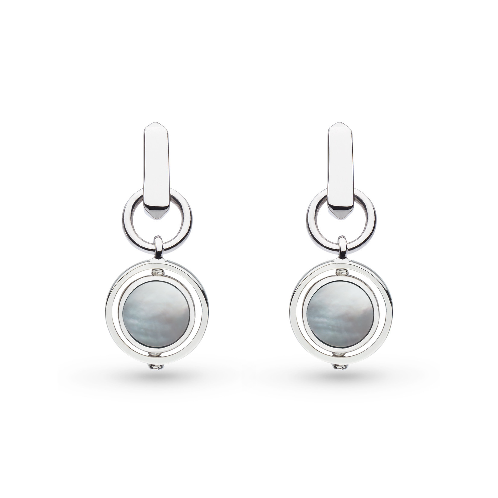 Revival Eclipse Equinox Mother of Pearl Spinner Drop Earrings