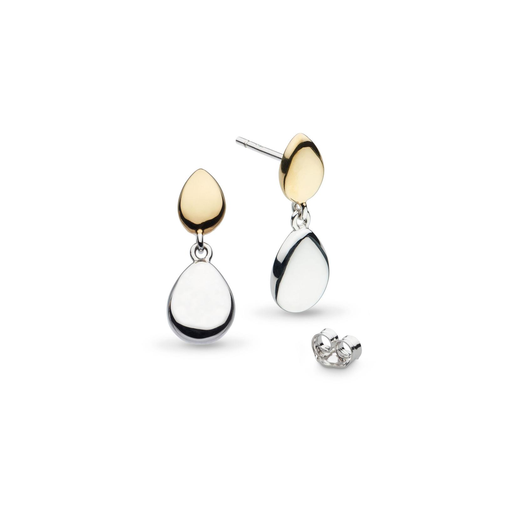 Coast Pebble Golden Stud Drop Earrings