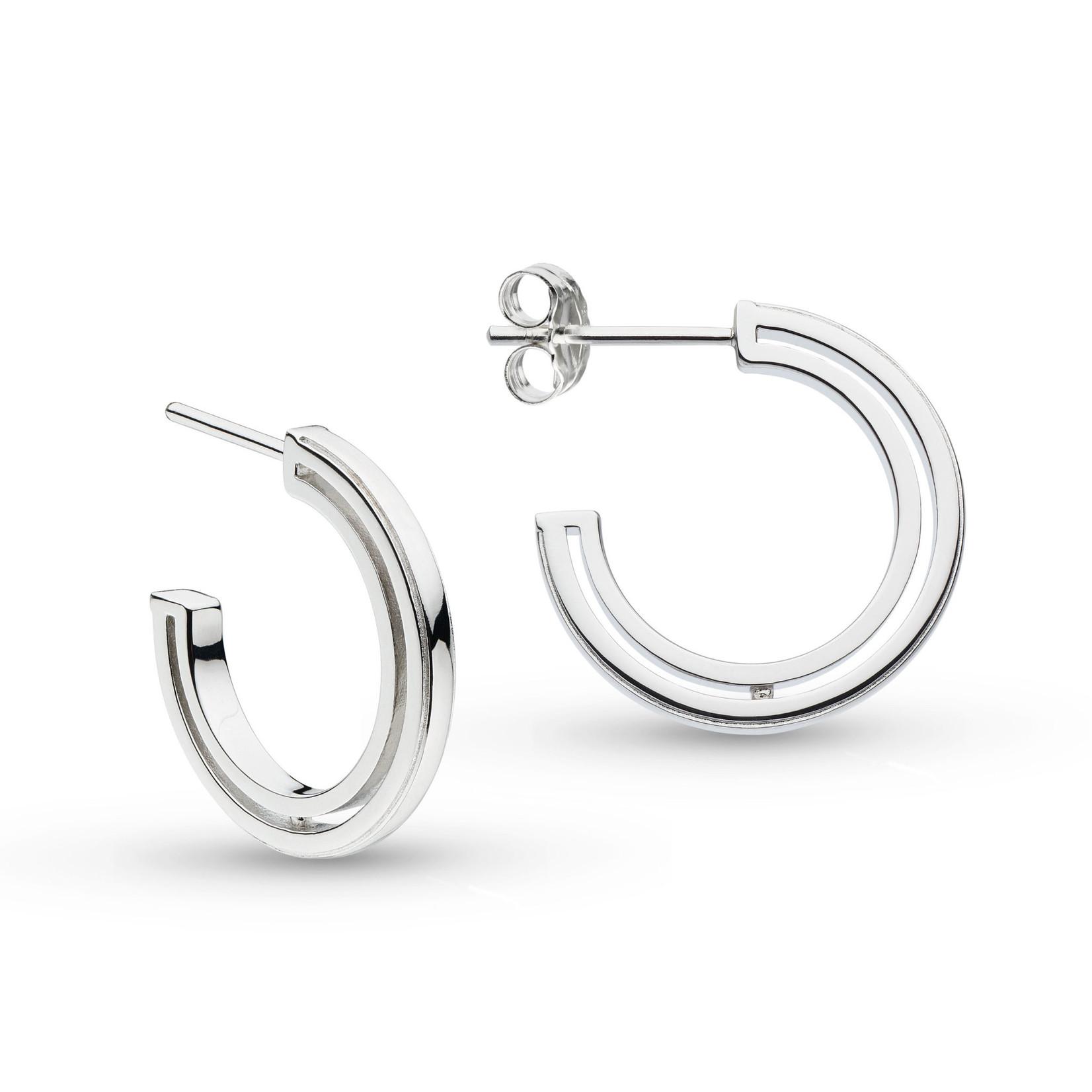 Revival Eclipse Outline Semi Hoop Stud Earrings