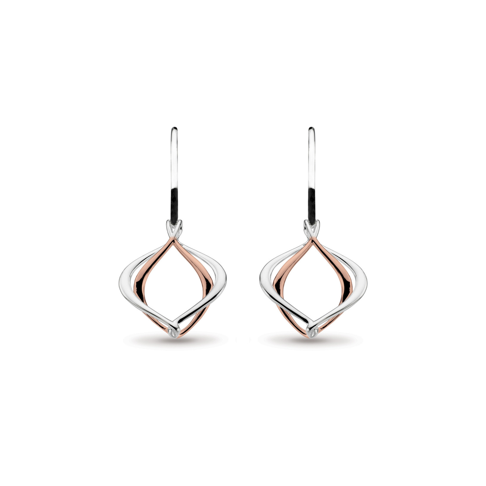 Entwine Alicia Small Rose Gold Plate Drop Earrings