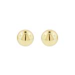 Gold Button Earring