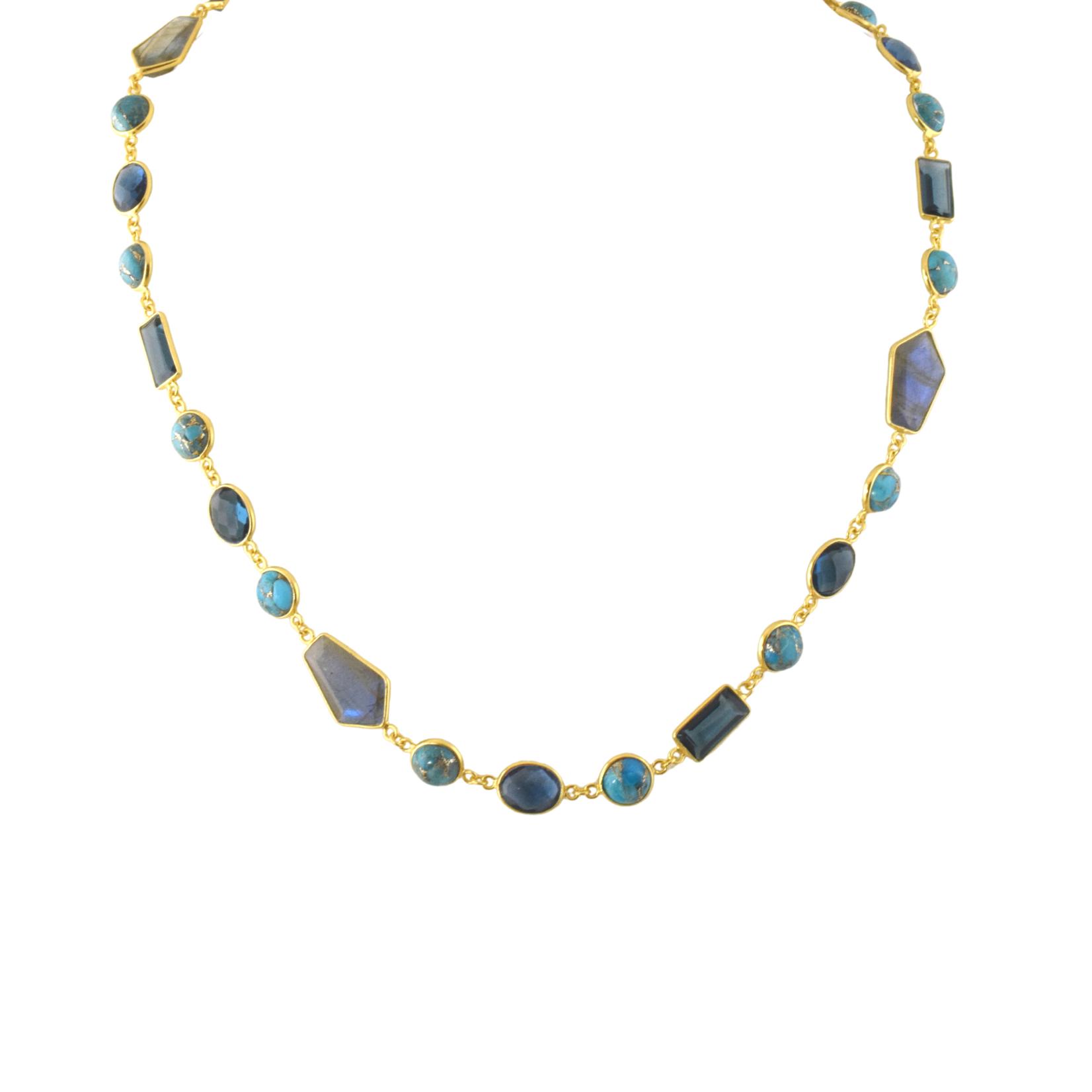 Vermeil Gemstone Necklace