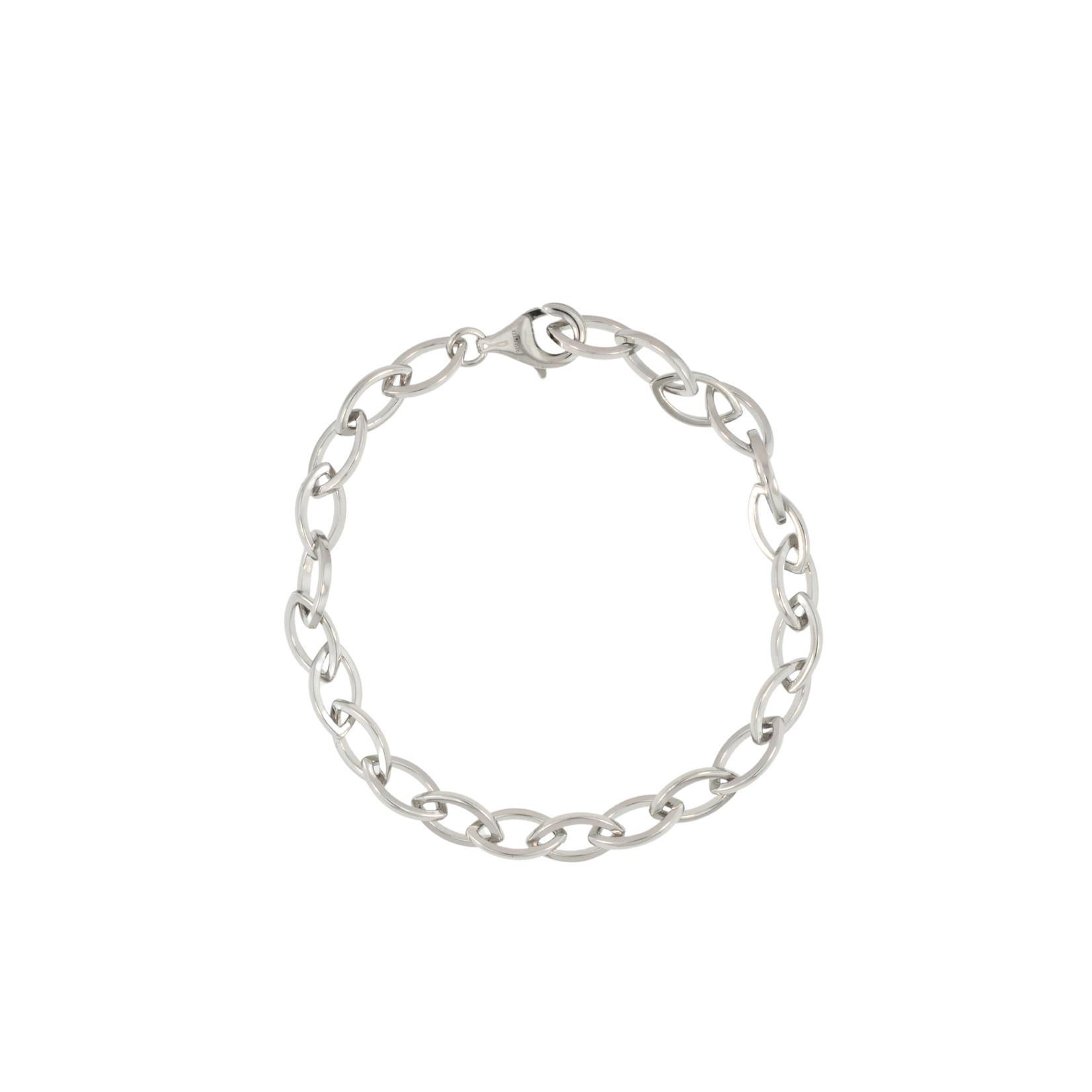 Silver Navette Link Bracelet