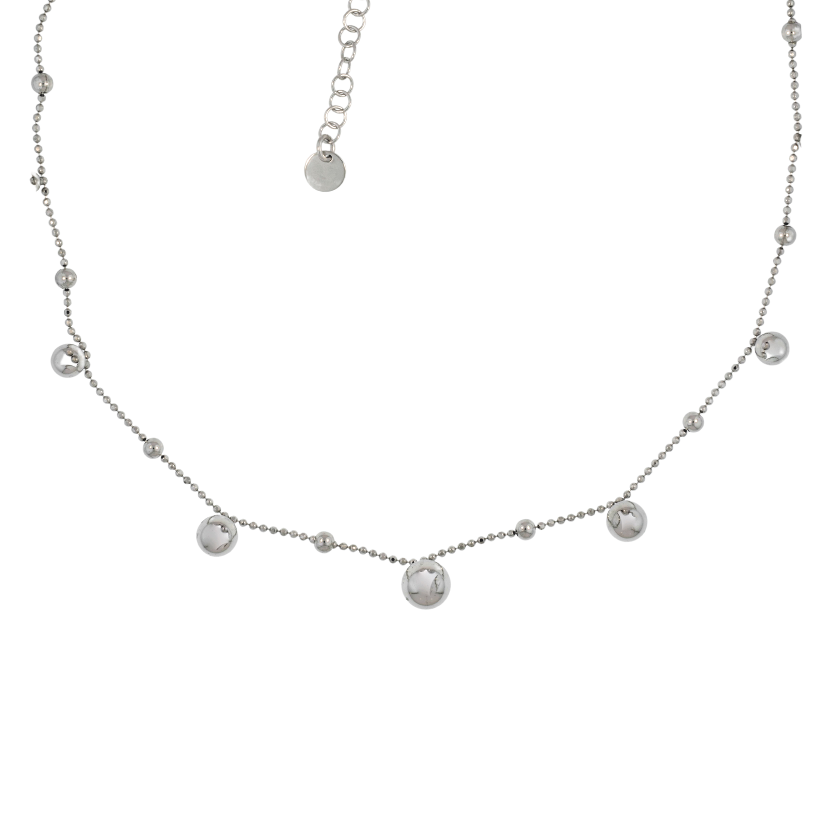 Silver Saturn Short Necklace