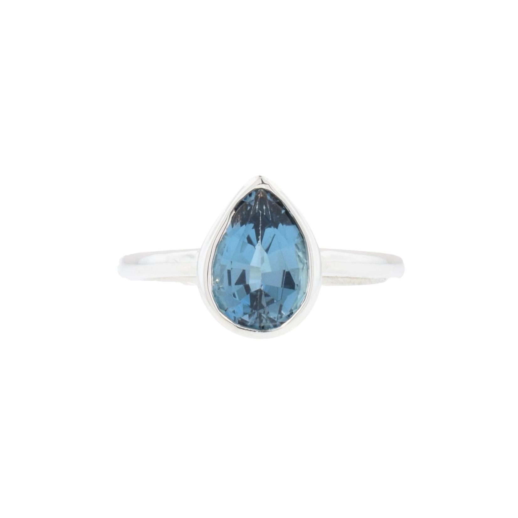 Silver Blue Topaz Ring