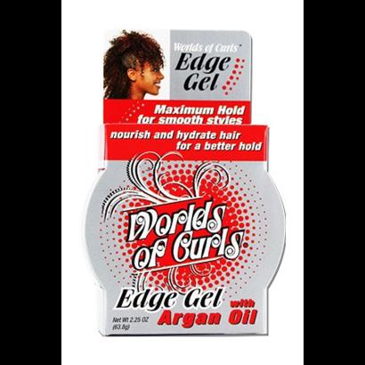 Worlds of curls edge gel