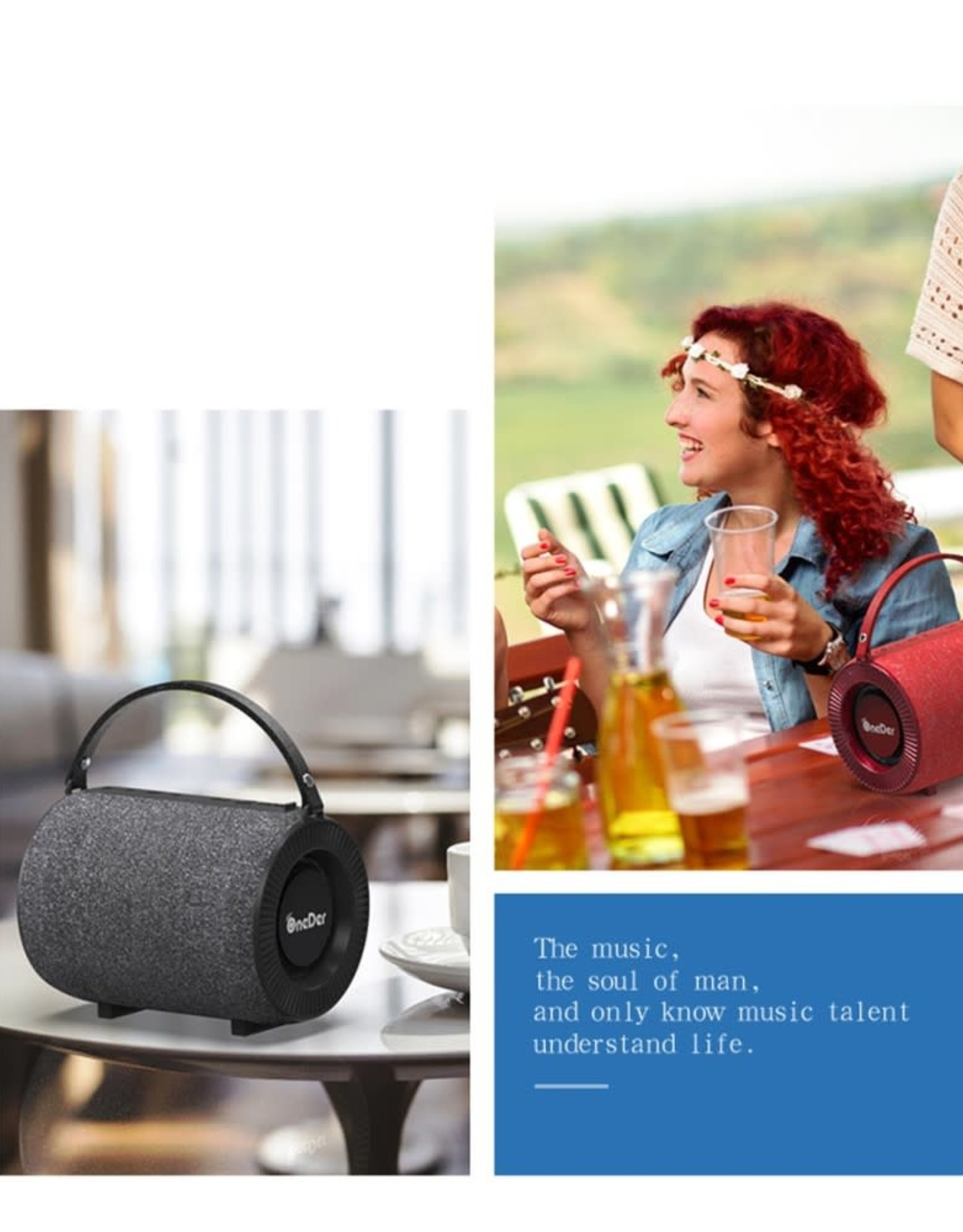ONEDER V3 Fabric Portable Wireless Bluetooth Card Stereo Bass Mini Speaker