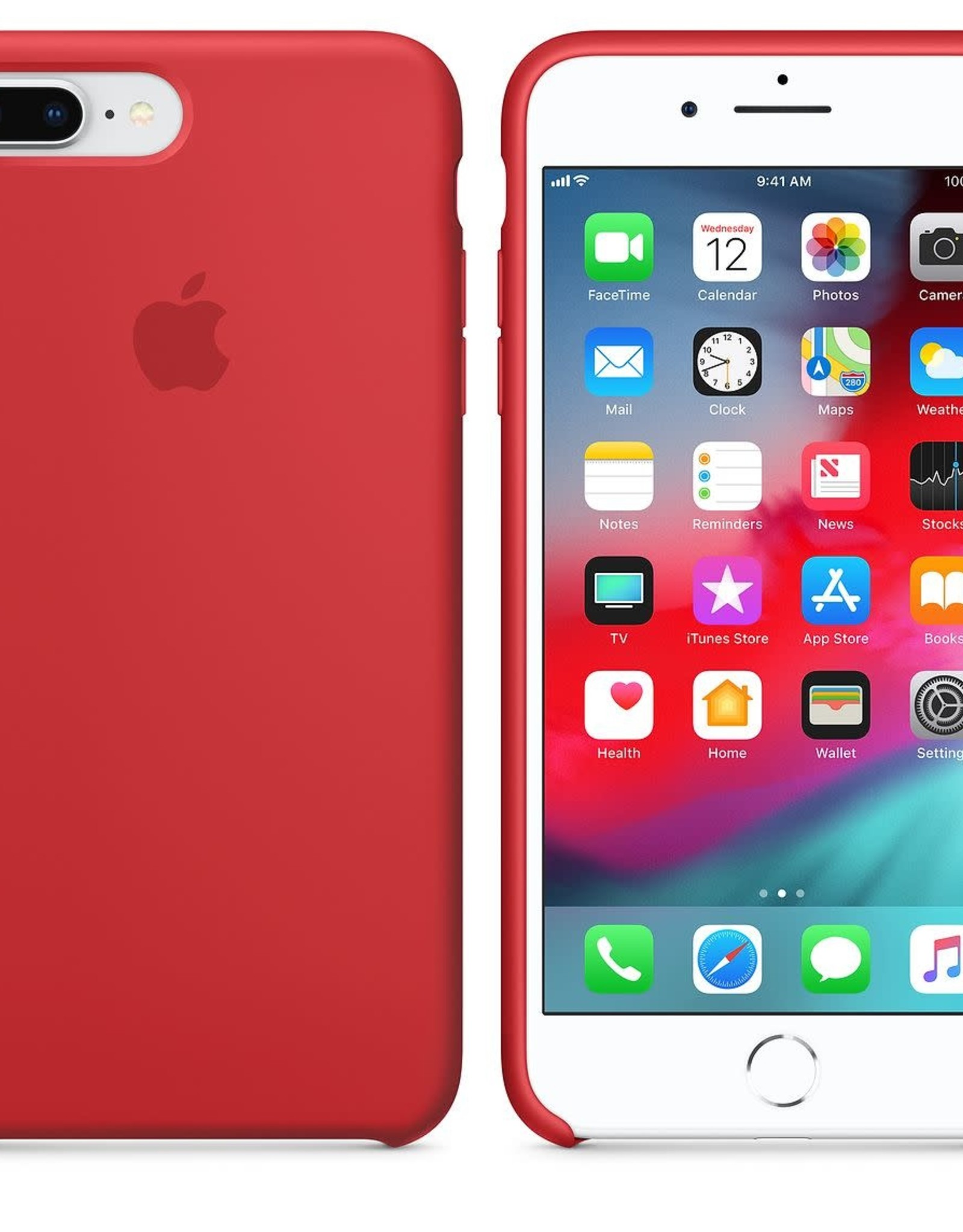 Apple Iphone 7Plus/8Plus  Silicone Red
