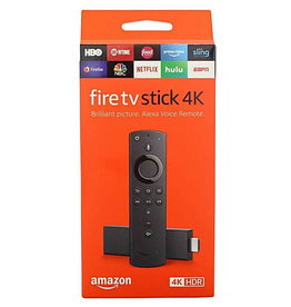 Amazon Amazon Fire TV Stick 4K streaming device with Alexa built in, Ultra HD, Dolby Vision, includes the Alexa Voice Remote