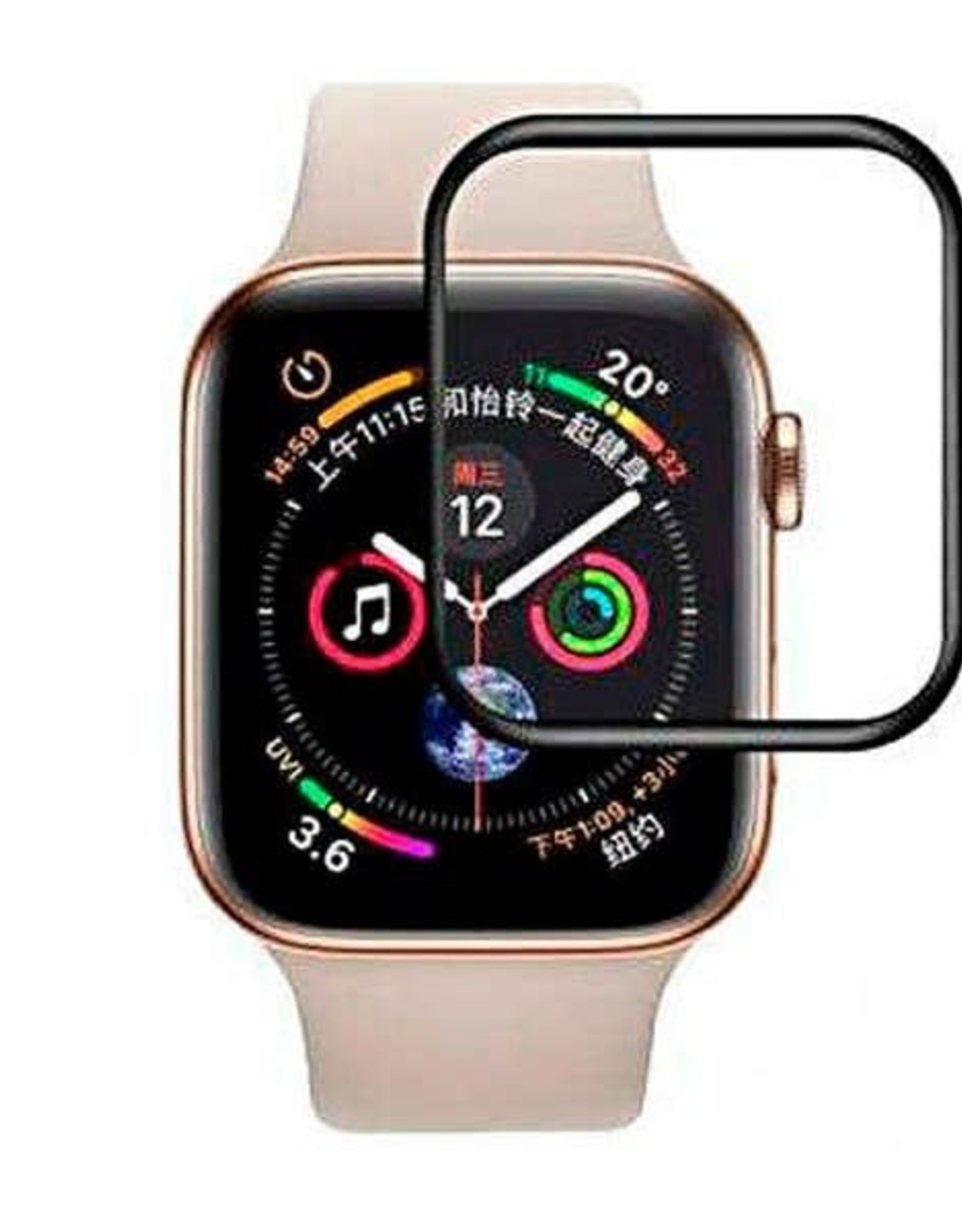 Baseus Baseus Tempered Glass Full Coverage Tempered Glass Protector For Apple Watch 42mm