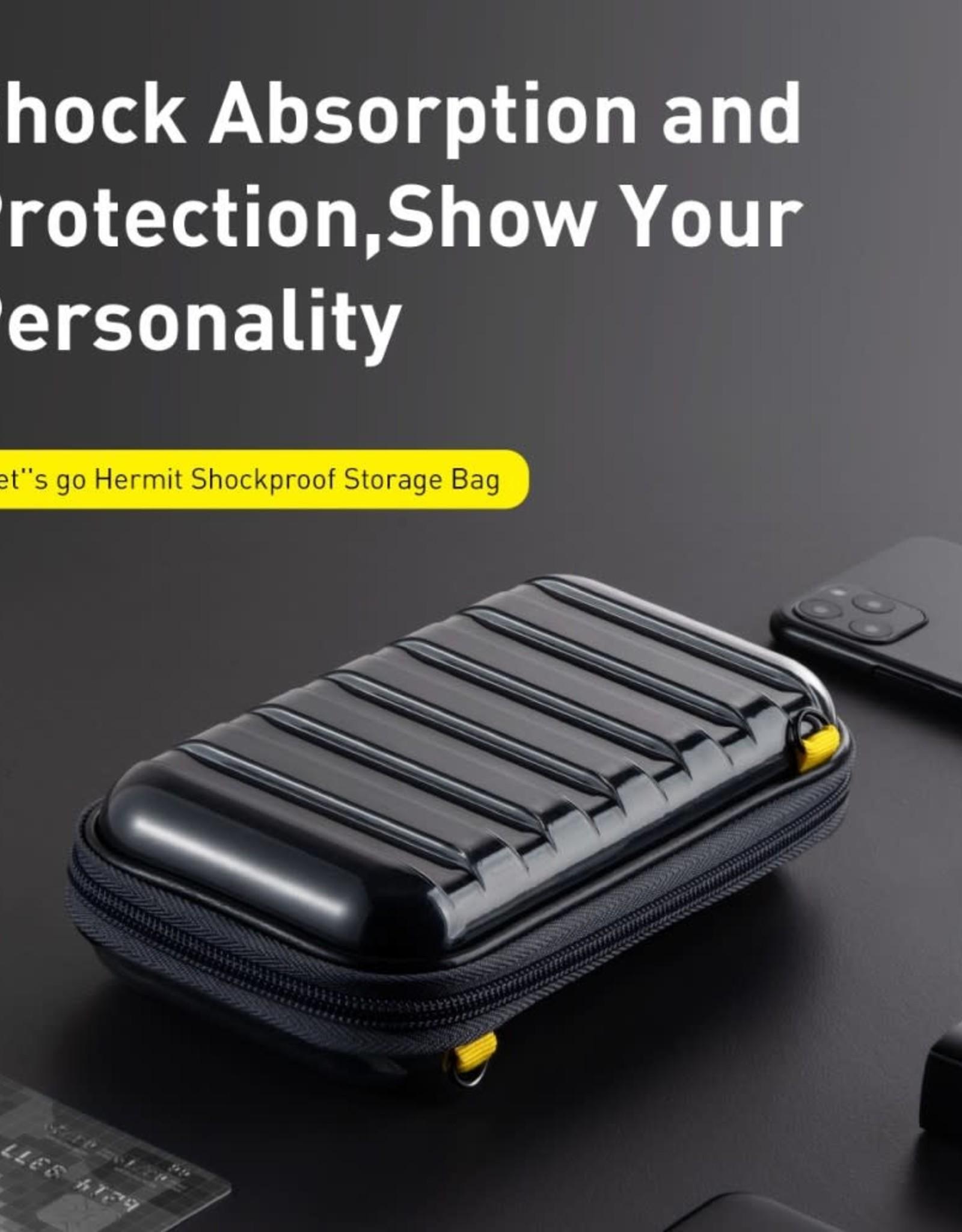 BASEUS Let's Go Series Hermit Shockproof Storage Bag - Transparent Black